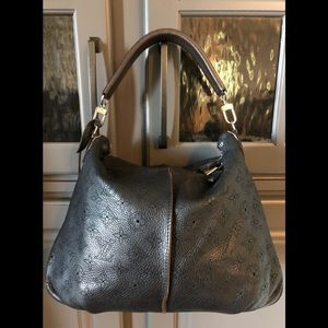 Louis Vuitton Noir Mahina Leather Selene PM Bag